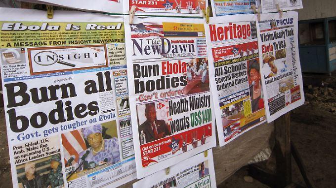 Die liberianischen Zeitungen kennen nur ein Thema: Ebola.