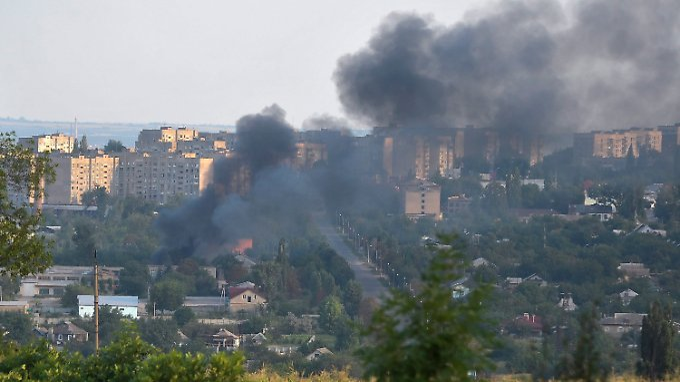 Lugansk ist unter Beschuss.