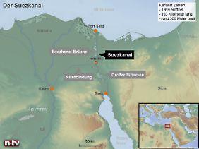 Gut 160 Kilometer von Suez nach Port Said: Der Kanal erspart der Schifffahrt einen rund 4000 Kilometer langen Umweg rund um das Kap der Guten Hoffnung.