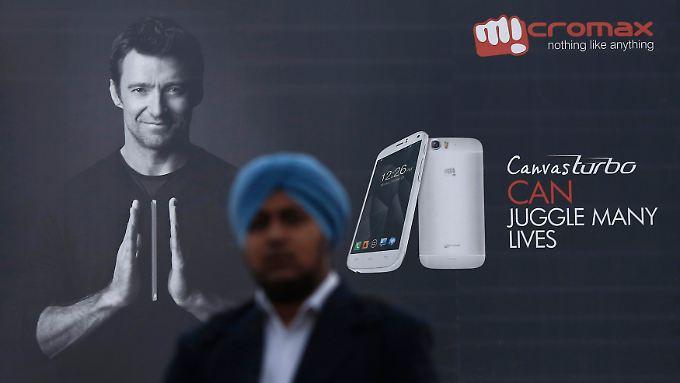 Bei der Zahl der ausgelieferten Smartphones liegt die indische Firma Micromax noch hinter Samsung - aber holt auf.