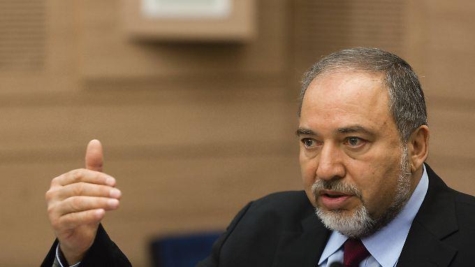 Avigdor Lieberman, israelischer Außenminister - und auch politisch rechtsaußen angesiedelt.