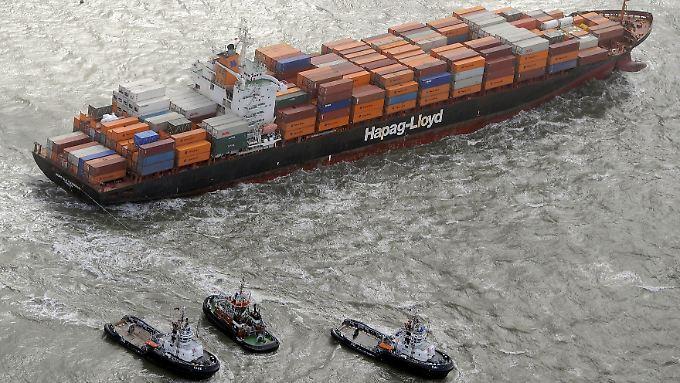 Der durchschnittliche Preis für den Transport von Waren je Standardcontainer ist gesunken.