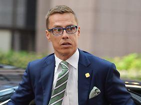 """""""Der wirtschaftliche Ausblick ist leider unsicher"""": Finnlands Regierungschef Alexander Stubb."""