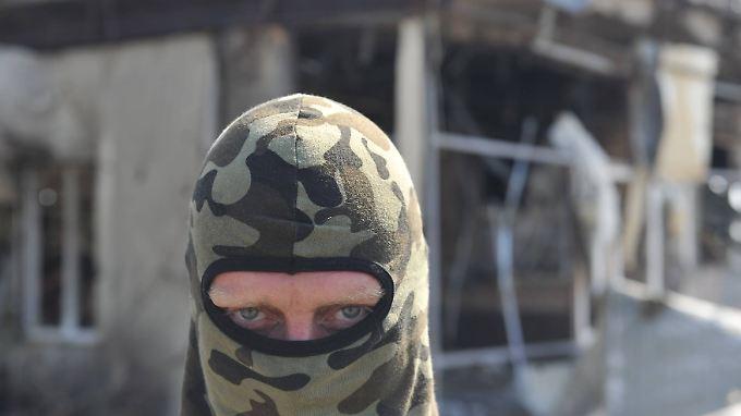 """In der selbst ernannten """"Volksrepublik Donezk"""" kämpfen Separatisten gegen ukrainische Regierungstruppen."""