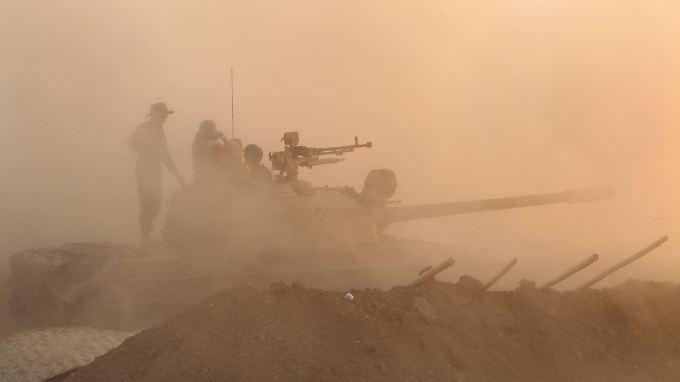 Die Kurden kämpfen im Nordirak gegen einen Vormarsch der IS.