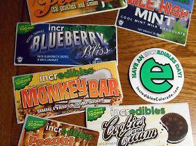 """Essbare Cannabis-Produkte: Seit Marihuana in Colorado legalisiert wurde, brummt das Geschäft mit dem """"Gras""""."""
