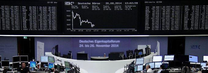 """Der Dax zur Wochenmitte: Der """"Widerstand"""" bei 9300 erweist sich als durchlässig."""