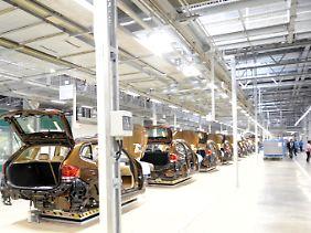 Blick in das BMW-Werk in Shenyang in Nordostchina.