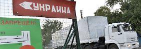 """""""Ertragen die Lügen nicht länger"""": Russischer Konvoi überquert Grenze"""