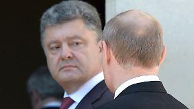 Poroschenko und Putin hatten bereits am 6. Juni bei den D-Day-Feiern in Frankreich kurze Zeit für eine Begegnung.