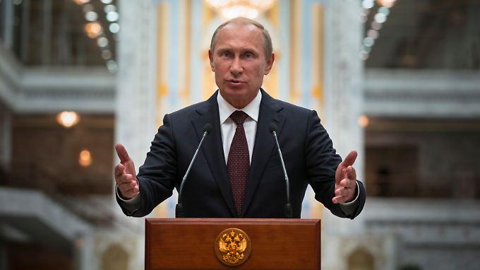"""Putin hat den """"Milizen Neurusslands"""" erhebliche Erfolge attestiert."""