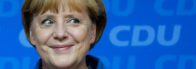 Angela Merkel hat gut lachen: An ihrer Partei führt derzeit kein Weg vorbei.
