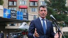 """Nato-Gipfel im Zeichen der Krise: Rasmussen: """"Russland greift Ukraine an"""""""