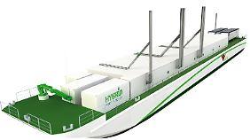 Eine Computeranimation: Die Flüssiggas-Barge ist mit fünf Generatoren ausgestattet