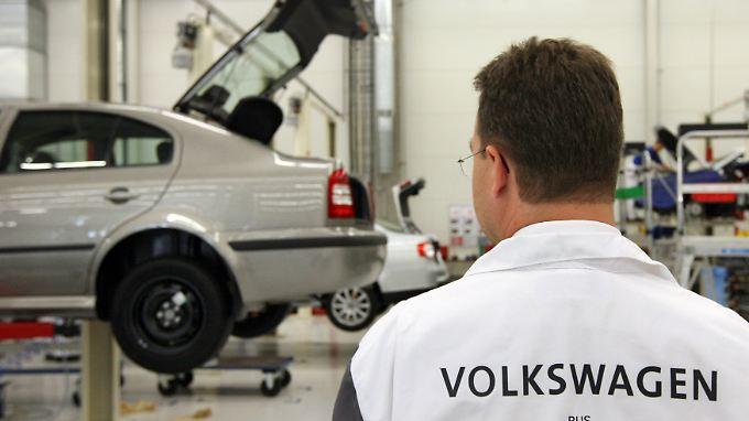 Volkswagen-Werk im russischen Kaluga. Russland ist der zweitgrößte Pkw-Absatzmarkt in Europa.