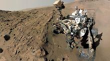 """Marsrover ist am """"Mount Sharp"""": """"Curiosity"""" erreicht sein Ziel"""