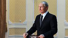 Putin beim Gipfel der Schanghai-Organisation für Zusammenarbeit (SCO) in Duschanbe. Auch in Zentralasien ist Russlands Ruf wegen des Ukraine-Konflikts ramponiert.