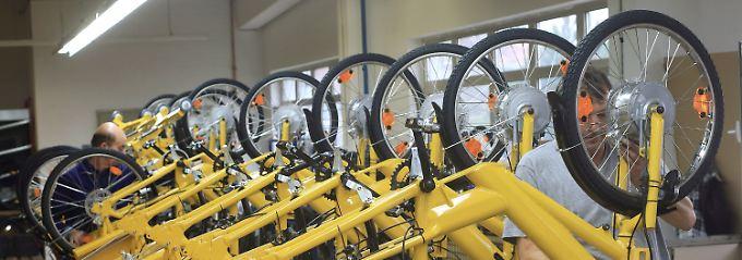 Produktion spezieller Fahrräder für Briefzusteller in Sangerhausen.