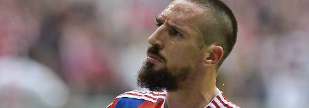Jubel, Trubel, Pathos: Franck Ribéry nach seinem Tor gegen Stuttgart.