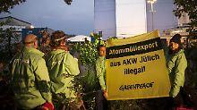 Verstoß gegen deutsches Recht: Greenpeace warnt vor Atomtransport in USA