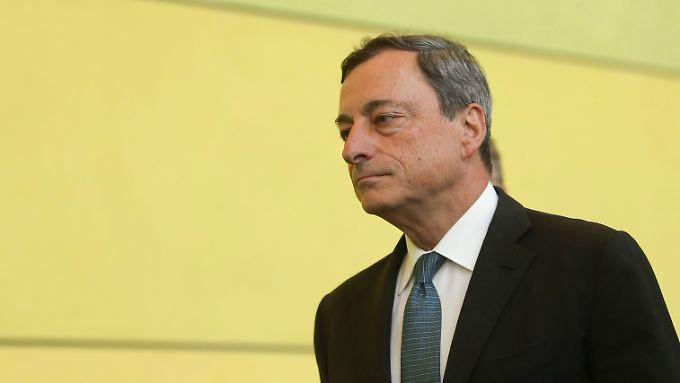 """EZB-Chef Draghi: """"Die Geldpolitik wird noch für eine lange Zeit expansiv bleiben."""""""