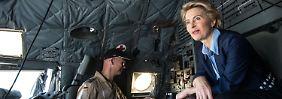 Von der Leyen reiste für einen Tag in den Irak - an Bord einer Transall C-160.
