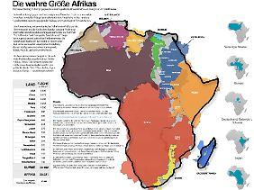 Wie lassen sich die Puzzle-Teile am besten zur Größe Afrikas zusammensetzen? Die Variante, die Krause gewählt hat, ist eine von vielen möglichen.