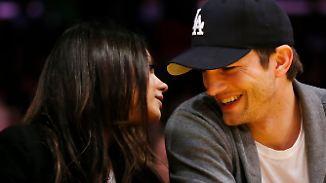 Promi-News des Tages: Kunis und Kutcher haben angeblich ein doppeltes Geheimnis