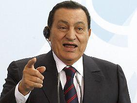"""Mubarak: """"Ägypten wird nicht in die israelische Falle tappen."""""""