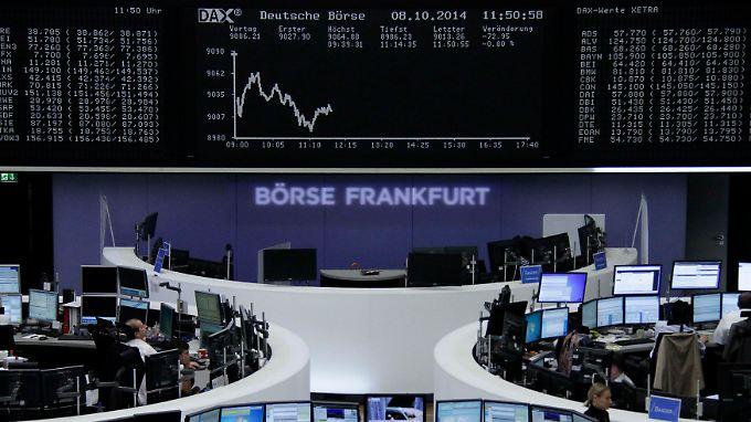 Besorgte Anleger: Dax sackt unter 9000-Punkte-Marke