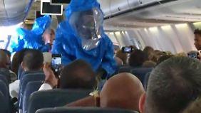 """""""Ich habe Ebola"""": Makabrer Scherz führt zu Notlandung von US-Ferienflieger"""