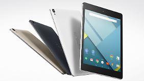 Das Nexus 9 hat einen Aluminiumrahmen, die Rückseite besteht aus Kunststoff.