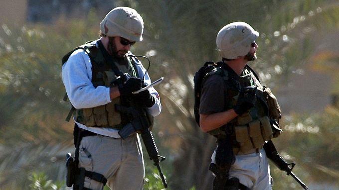 Blackwater-Söldner im Irak: Der privaten Sicherheitsfirma wurden nach dem Vorfall auf dem Nussir-Platz alle Verträge der US-Regierung entzogen.