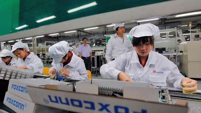 Foxconn-Fabrik in der südchinesischen Metropole Shenzhen. Foto: Ym Yik/Archiv