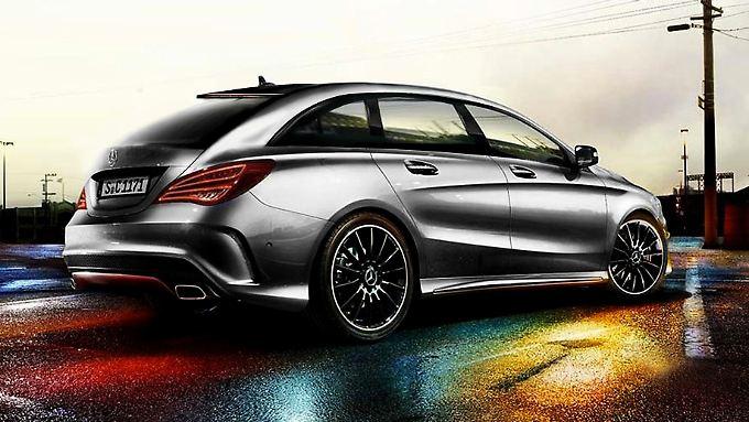 So könnte der Mercedes-Benz CLA Shooting Brake aussehen.