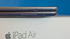 Das iPad Air 2 ist dünner als sein Vorgänger und hat keine Stumm-Taste.