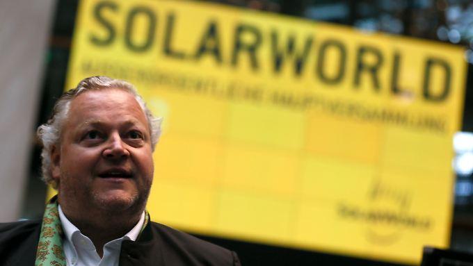 """Die Auftragslage für 2015 sei """"ordentlich"""", sagt Solarworld-Chef Asbeck dem """"Wall Street Journal Deutschland""""."""