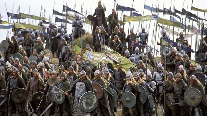 Die Kämpfer von Gondor und Rohan ziehen in die Schlacht, so wie die Soldaten des Ersten Weltkrieges.