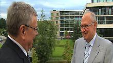 Manfred Bleskin im Gespräch mit Martin Kannegiesser.