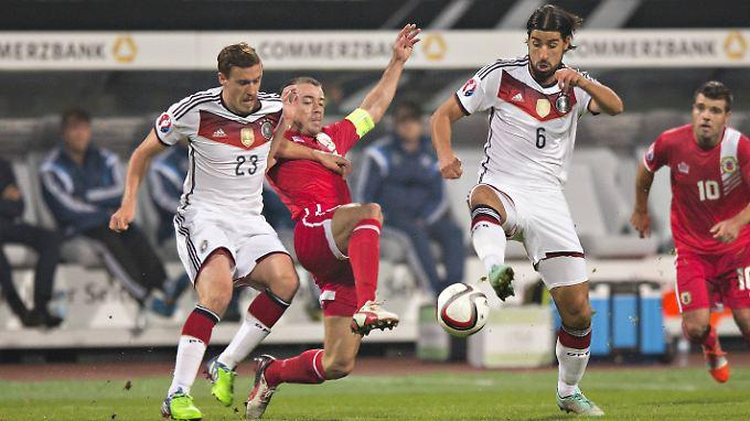 Eine Siegchance gab es zwar von vornherein nicht, aber kampflos ergaben sich die Gibraltarer der DFB-Elf nicht.