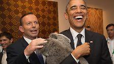 Nicht so Barack Obama: Der US-Präsident ist ganz begeistert.