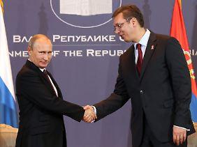 Putin zog im Oktober ein Treffen mit Serbiens Premier Vucic einer weiteren Unterredung mit den EU-Regierungschefs in Mailand vor.