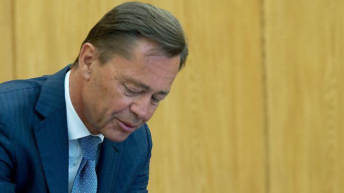 Middelhoff während des Prozesses vor dem Landgericht.