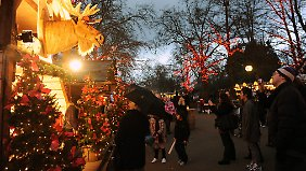 Deutscher Weihnachtsmarkt in London. Im Ausland sehen die deutschen Hersteller von Weihnachtsgebäck Chancen für die Zukunft.