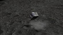"""So soll """"Mascot"""" über den Asteroiden 1999 JU 3 hüpfen. Die Landung ist für 2018 geplant."""