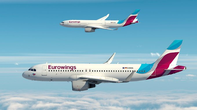 So sollen die Jets der neuen Eurowings aussehen.