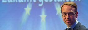 Jens Weidmann sieht eine weitere geldpolitische Lockerung skeptisch.