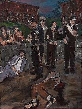 Neben Landschaften hielt der Musiker auch Straßenszenen in seinen Bildern fest.