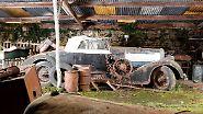 Es ist schon ironisch, dass die alten Vehikel, wie dieser Hispano Suiza H6B Cabrio aus den 20er Jahren schrottreif aussehen.