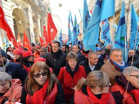 Demonstration in Turin.